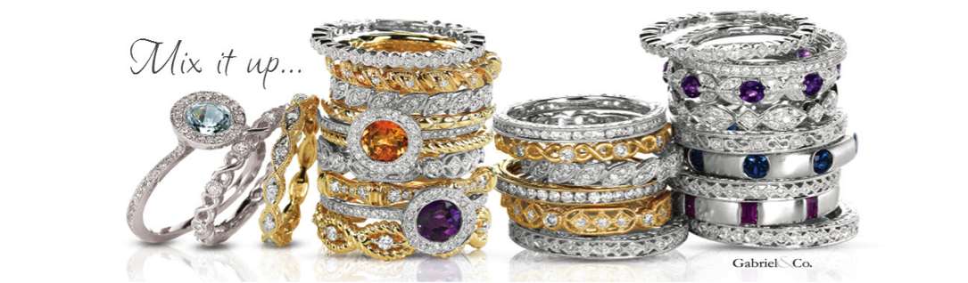 Gabriel & Co stackable rings