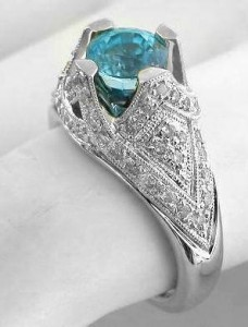 gem engagement ring